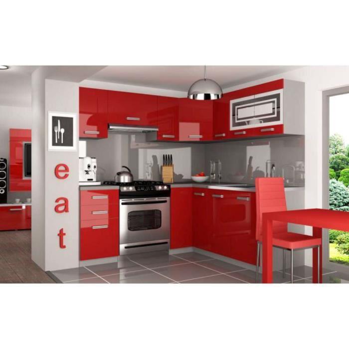 justhome lidja l pro l-cuisine équipée complète 190x170 cm couleur