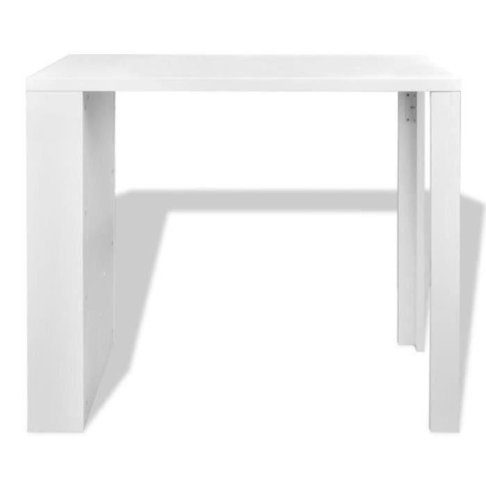 Table de bar avec rangement (Blanc) Maja+ - Achat / Vente table ...