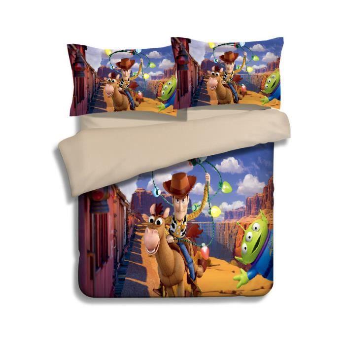 Parure De Lit Toy Story 3d Effet 160 210cm 3 Pieces Achat Vente