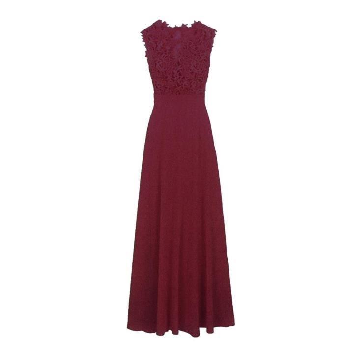 robe du soir, haut en crochet, bas mousseline. Matière : 100% Polyestère