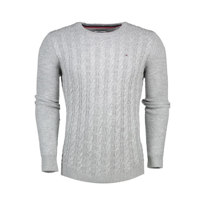 94302cee0ca39 Vêtements homme Pull-overs Tommy Hilfiger Denim Basic Cable Cn Sweater