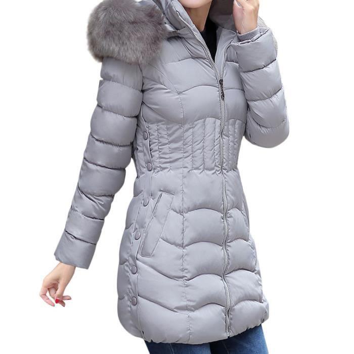 Longue Femmes Capuche De À Chaud D'hiver Veste Manteau Fourrure qZwIrqXx