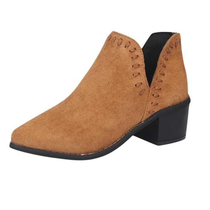Court Martin Simples Chaussures 6394 Solides Cheville Automne Femmes Roman Bottes fbY7gv6y
