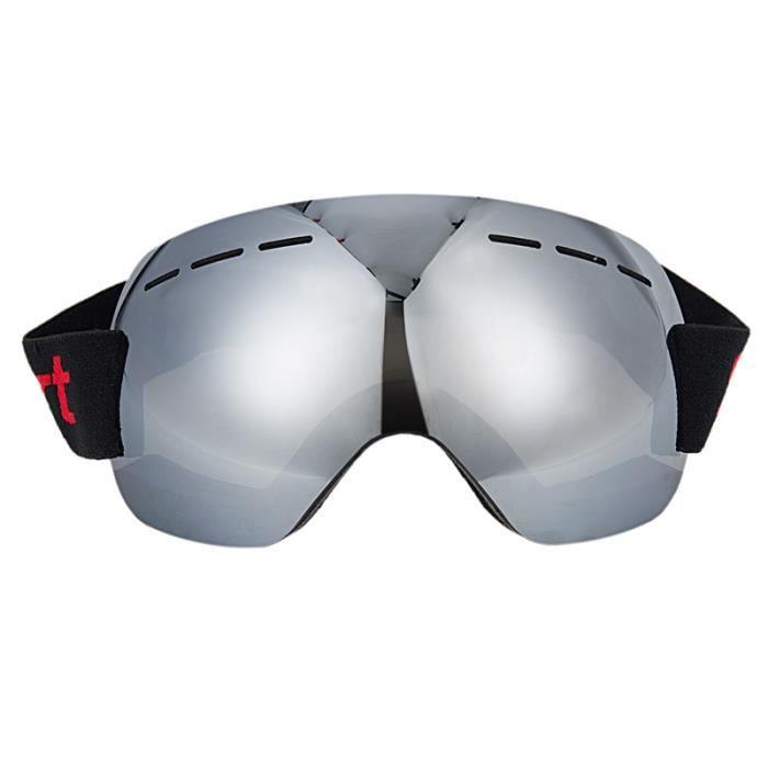 89a4074b19 Lunettes de protection de ski, Sports de neige d'hiver Lunettes de snowboard  avec protection anti-buee UV , argent