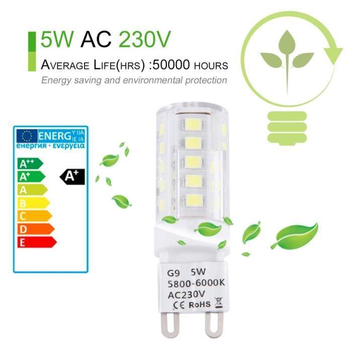 G9 360°angle Lampes Pur Ampoule 10 5w Jpodream De Pack Led Blanc TA5HqFp