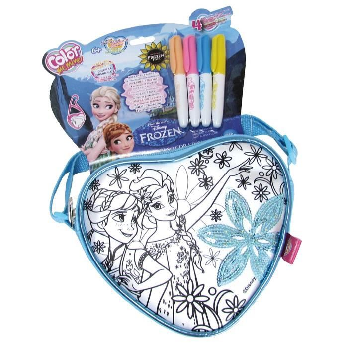 Sac Coloriage Reine Des Neiges.La Reine Des Neiges Color Me Mine Sac Cœur A Colorier Disney