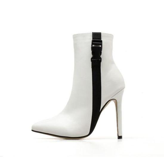 Les femmes Escarpins Bottes talon haut printemps Escarpin bout Sandales Chaussures à lacets bout Escarpin pointu HX3936 blanc Blanc Blanc - Achat / Vente escarpin 50d354