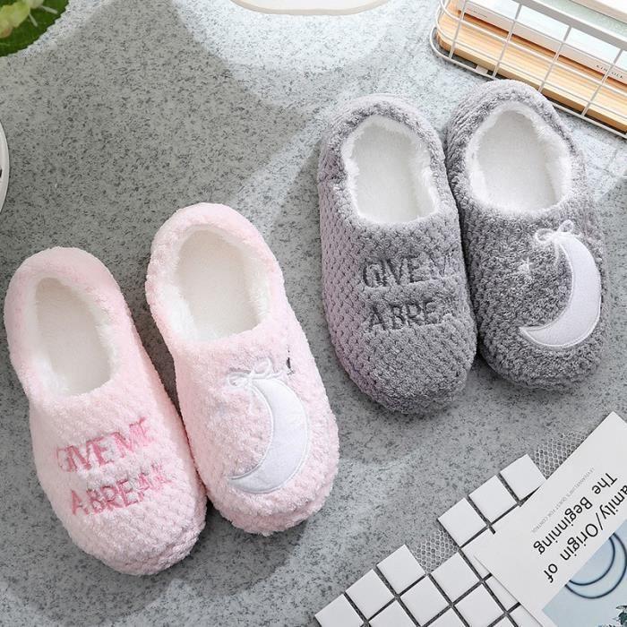 glissement hiver nouvelles à domicile en coton à chaussures maison carreaux d'ananas dames non pantoufles Automne coton et en BAnqxg