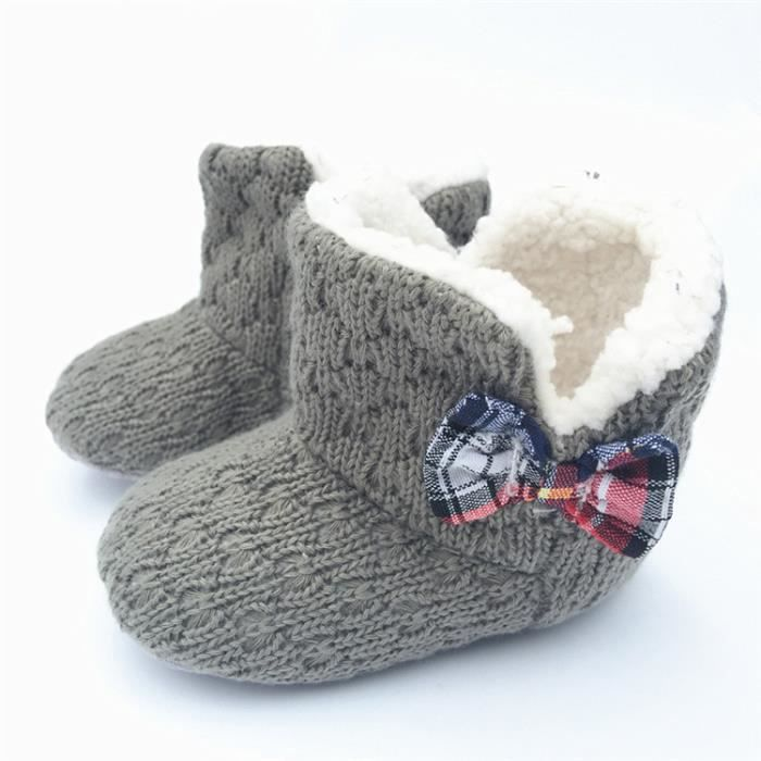 2017 Nouveau Bébé Chaussures en coton Bébé Hiver Fond mou Garde au chaud Chaussures en laine Ybs3B