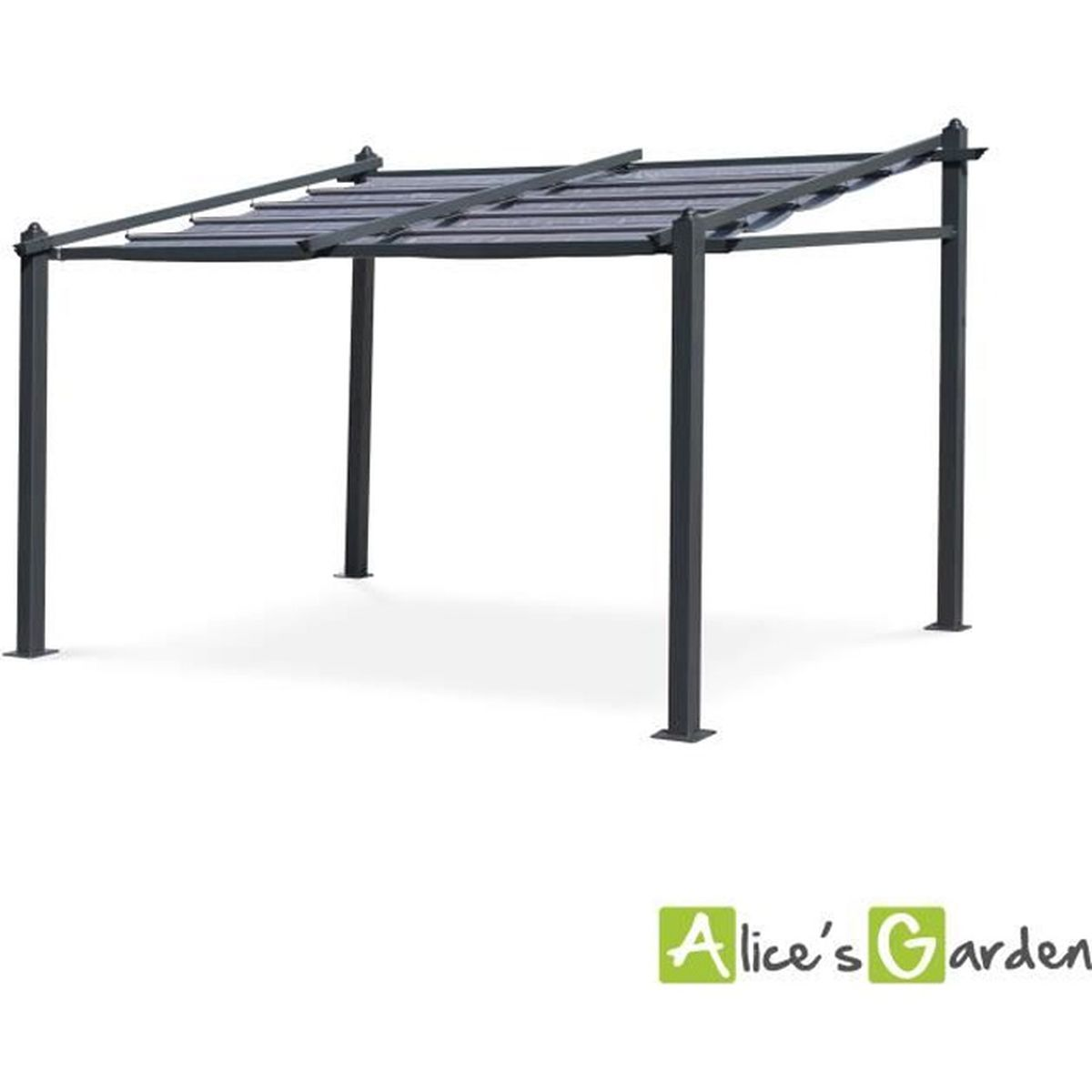 pergola alu 4 x 3. Black Bedroom Furniture Sets. Home Design Ideas