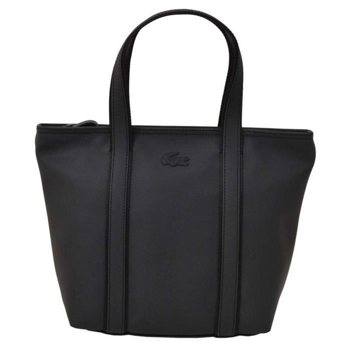 ce092a7338 Sac shopping Lacoste pour femme Noir noir - Achat / Vente sac ...