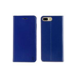 MUVIT Etui Folio Stand Bleu Pour Apple Iphone 7 Plus