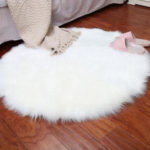tapis doux artificielle en peau de mouton housse de chai - Tapis Peau De Mouton
