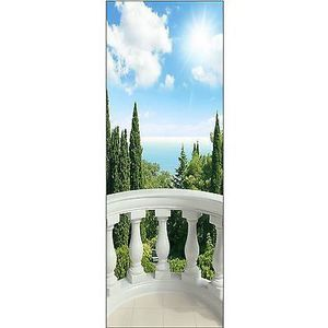 papier peint pour porte trompe l oeil d co balcon r f 622 dimensions 73x204cm achat vente. Black Bedroom Furniture Sets. Home Design Ideas