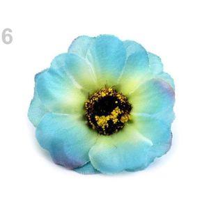 FLEUR ARTIFICIELLE 5pc 6 Bleu Azur de Fleurs Artificielles Chefs Ø50m
