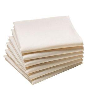serviette de table coton blanc achat vente serviette de table coton blanc pas cher cdiscount