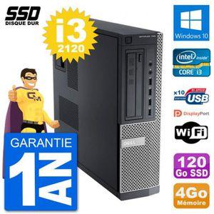 UNITÉ CENTRALE  PC Dell OptiPlex 790 DT Intel i3-2120 RAM 4Go SSD