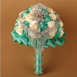 BOUQUET MARIÉE TISSU (NO.5)Diamant de luxe en perles de mariée tenant d