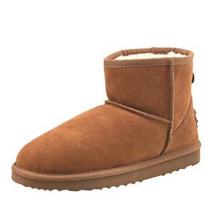 1e96a8c66c6a6 Ausland - Boots homme Imperméable, Bottes de neige en cuir(daim), Chaussures