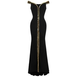 6630cc00c5d ROBE Angel-fashions Femme Cou de bateau Formel Robe de
