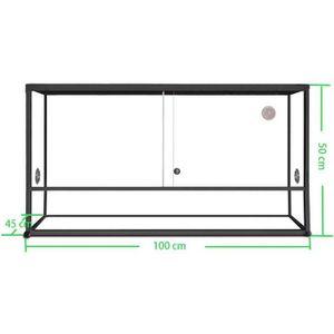 VIVARIUM - TERRARIUM Terrarium aluminium Elegance 100x45x50 Black