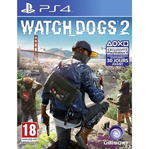 JEU PS4 Watch Dogs 2 Jeu PS4+2 boutons thumbstick OFFERT