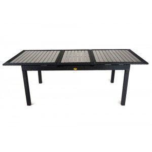 Table de jardin en resine tressee à rallonge - … - Achat / Vente ...