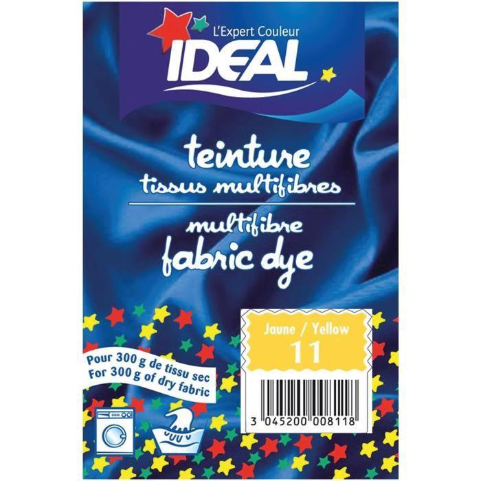 Teinture pour tissu multifibres - 15 g - jaune