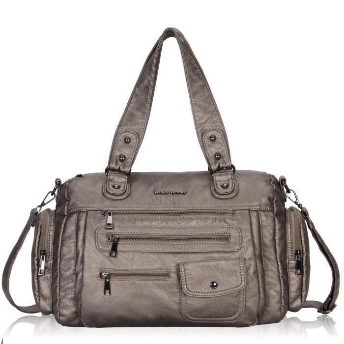 Sacs à main pour les grands sacs à bandoulière Zip de bourse de sac fourre-tout décontracté SRTNY