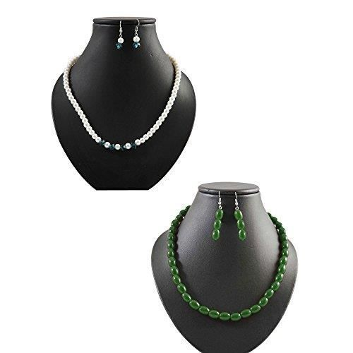 Womens Gorgeous Pearl Necklace Set Of 2 With Matching Earrings For - Xmlcb12 HQATQ