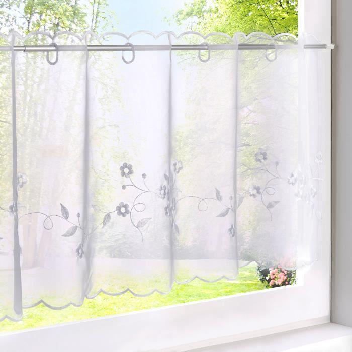 rideau voilage brisebise en polyester broderie hibou avec. Black Bedroom Furniture Sets. Home Design Ideas