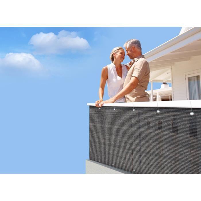 Brise vue pour balcon 500 x cm brun havane achat for Brise vue cdiscount