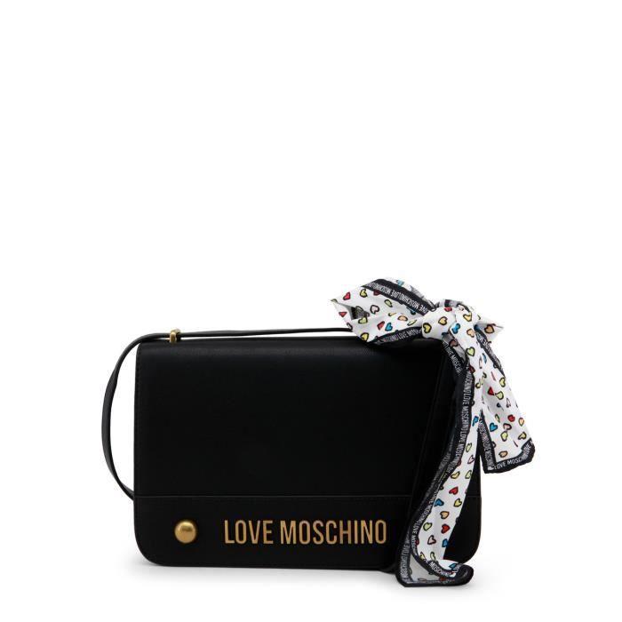 Sac à bandoulière noir femme détail ruban Love Moschino Noir