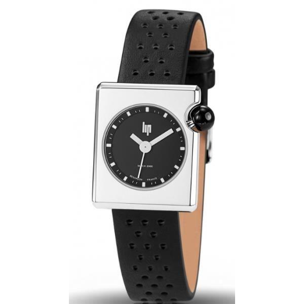 montre lip mach 2000 femme acier cuir noir 671111 vintage achat vente montre montre lip mach. Black Bedroom Furniture Sets. Home Design Ideas