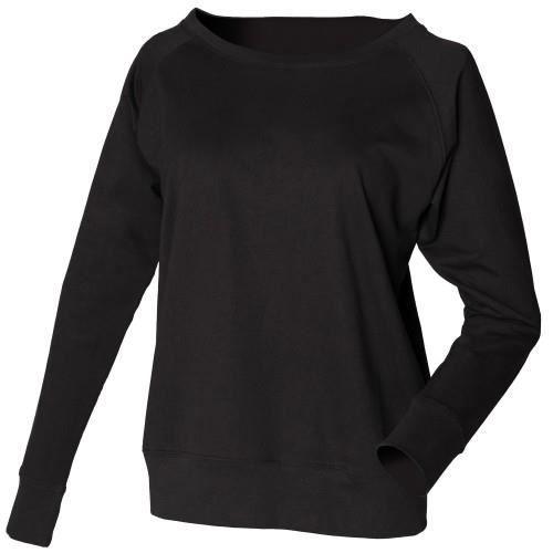 462cc1d56a7 Skinni Fit - Sweatshirt 100% coton - Femme Noir - Achat   Vente ...