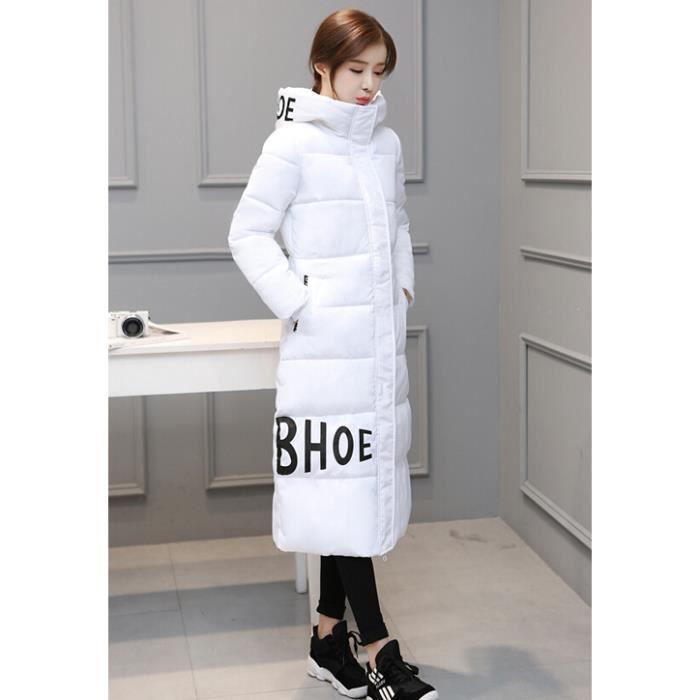 Long Épais Veste Doudoune Blanc Rembourré D'hiver Manteau Nouveau gris Femme XFYfcq