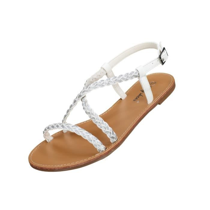 Sandales femme Lily shoes L902 White oaNmopUG