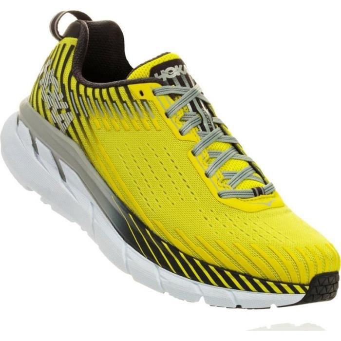 99c117cdd68 CHAUSSURES DE RUNNING Basket running Hoka clifton 5 homme jaune fluo - 4