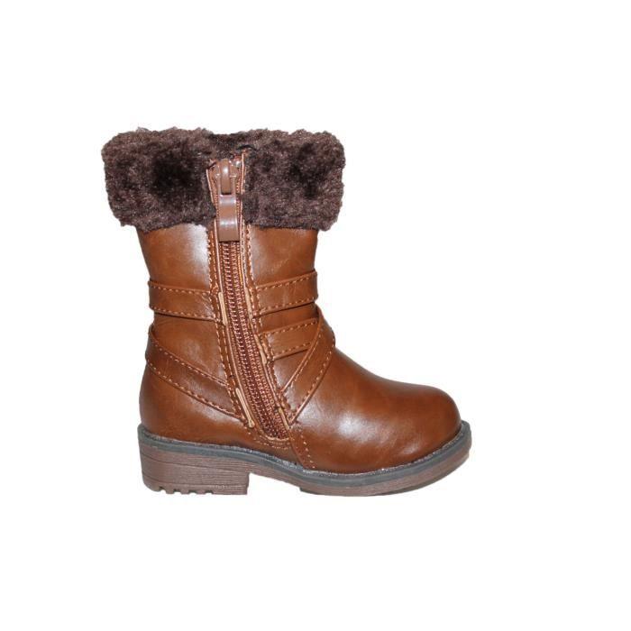 bottines fourrées bottes bottes marron fille bottines 1PHEcqZ