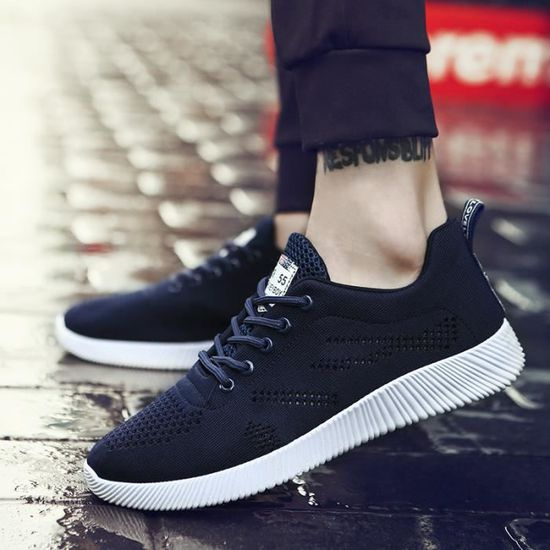 Baskets Sneakers Hommes Chaussures Casual Chaussures Sneakers Baskets Bleu Bleu - Achat / Vente basket af1919