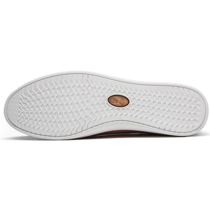 Mocassin Chaussures DADAWEN Hommes Casual 44 Blanc dpx70