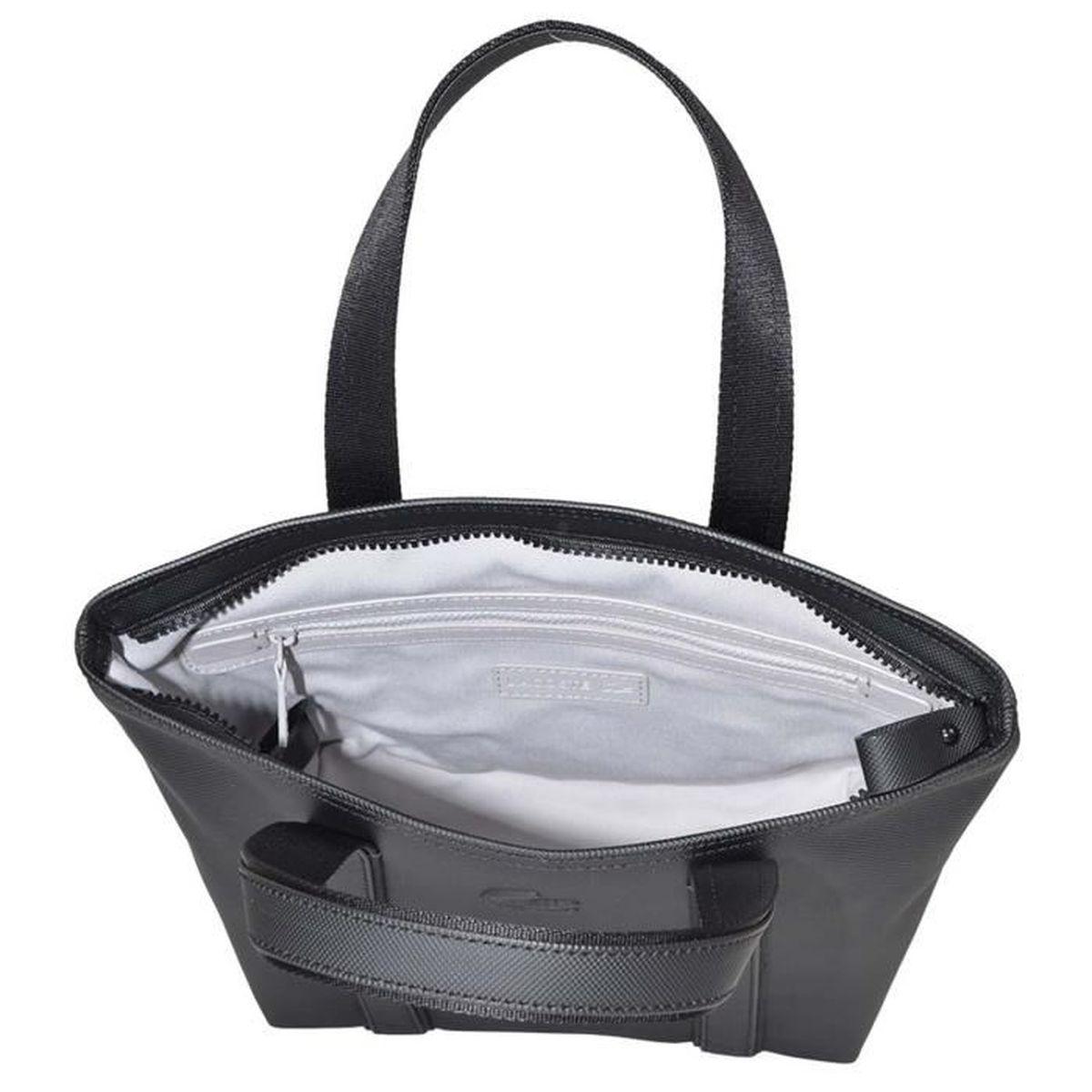 81aa903ccc Sac shopping Lacoste pour femme Noir noir - Achat / Vente sac shopping  3614036326118 - Soldes* dès le 9 janvier ! Cdiscount