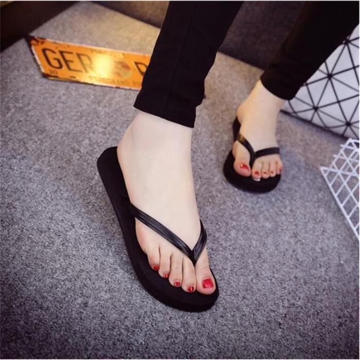 sandale plage femmes Haut qualité femme de pantoufles d'été Poids Léger Antidérapant sandales femme de marque Plus De Couleur