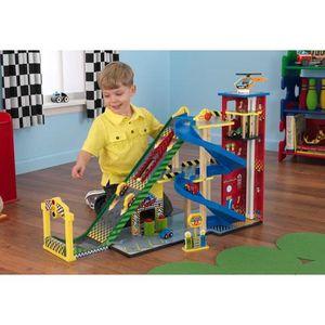 garage voiture en bois enfant achat vente jeux et jouets pas chers. Black Bedroom Furniture Sets. Home Design Ideas