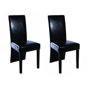 Chaise design bois noir - Achat   Vente pas cher 19761f0bf1c2