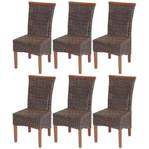 Chaise bois rotin achat vente pas cher - Lot de 6 chaises en bois ...