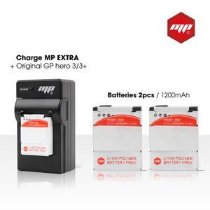 BATTERIE APPAREIL PHOTO 2 x batteries + chargeur pour GoPro hero 3+ et GoP