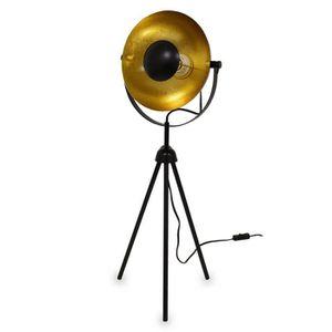 LAMPE A POSER Lampe à poser trépied Small Alona noir + or 76cm 1