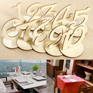 MARQUE-PLACE  Marque Place en Bois Numéro de Table avec base 10p