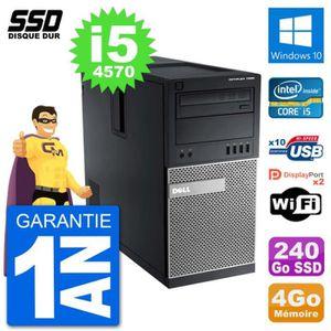 ORDI BUREAU RECONDITIONNÉ PC Tour Dell 7020 Intel Core i5-4570 RAM 4Go SSD 2
